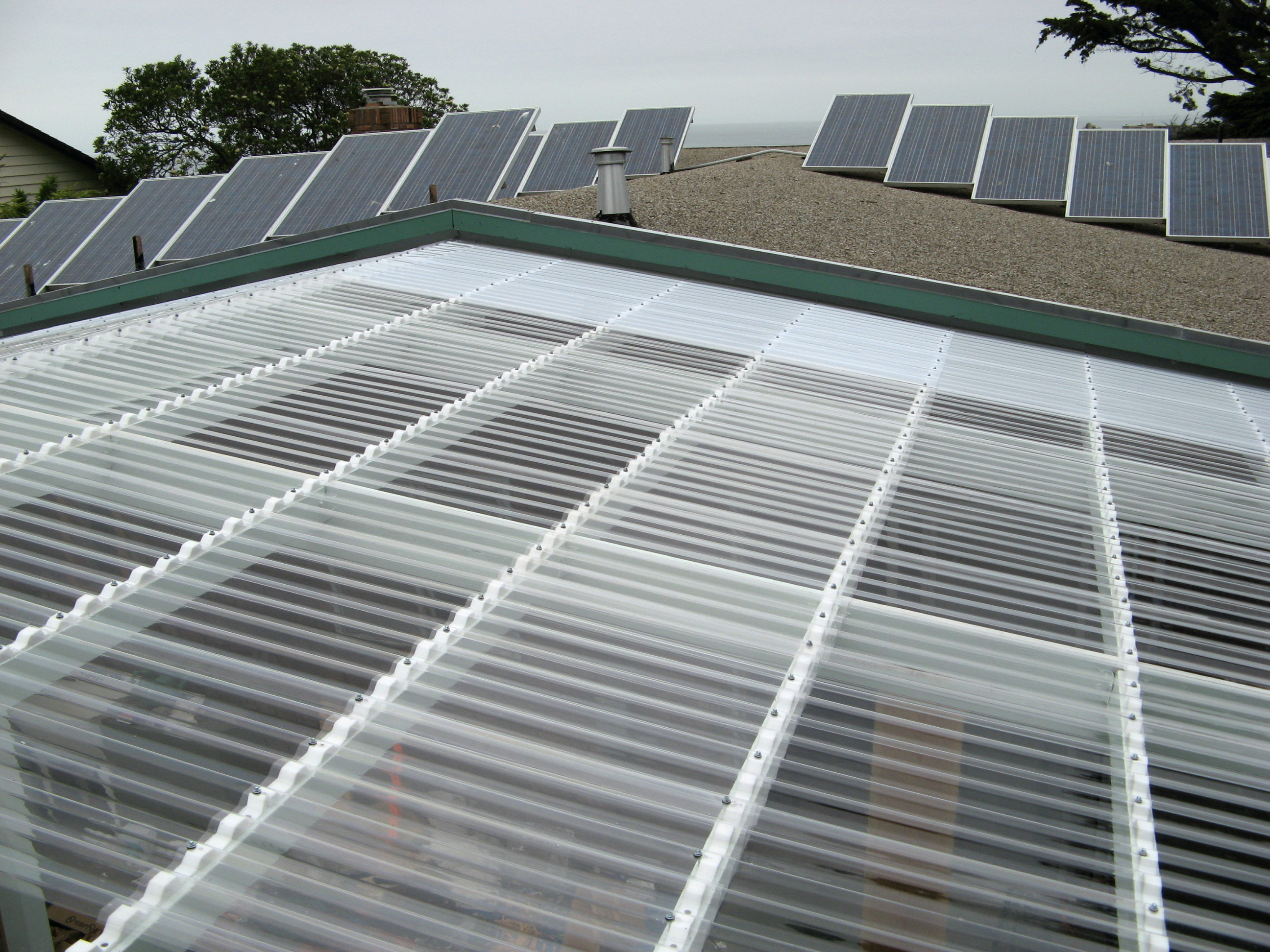 Wonderful Solar Panels/greenhouse Roof AFTER